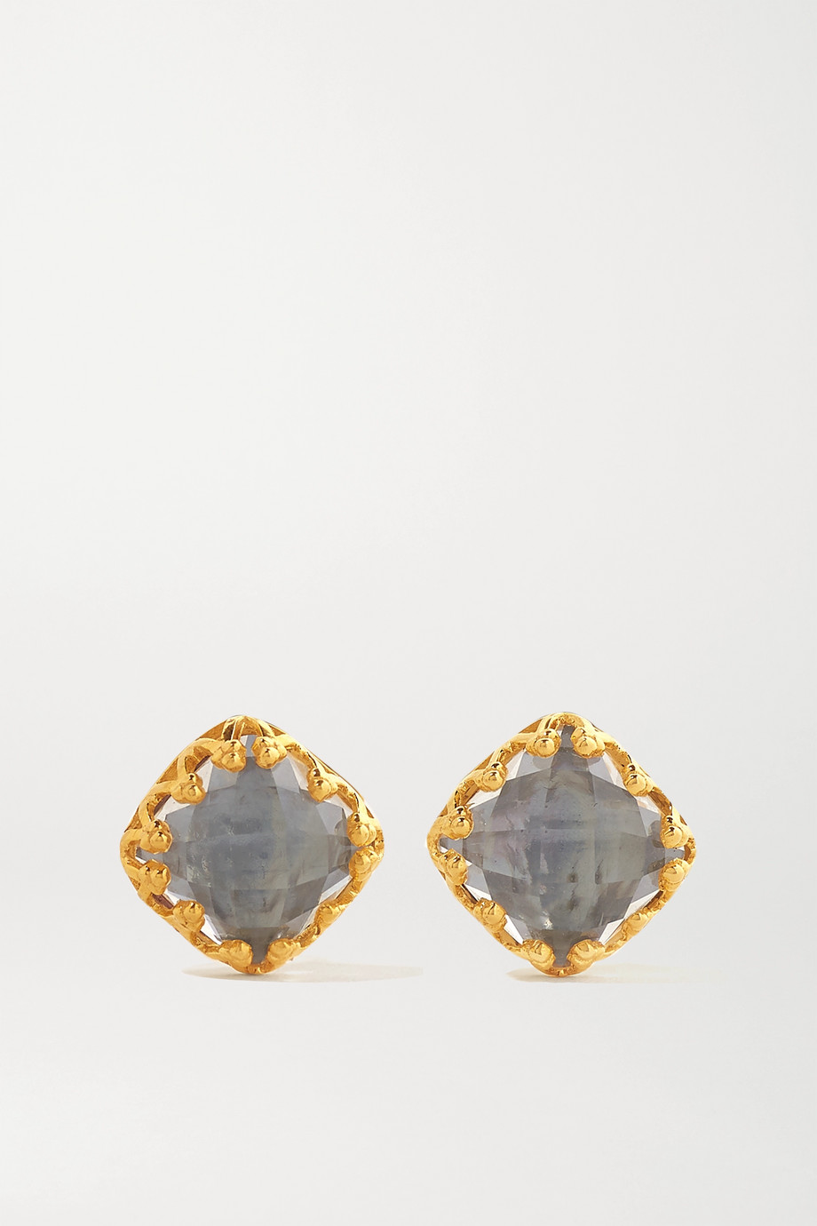 Larkspur & Hawk Jane 18-karat gold-dipped quartz earrings