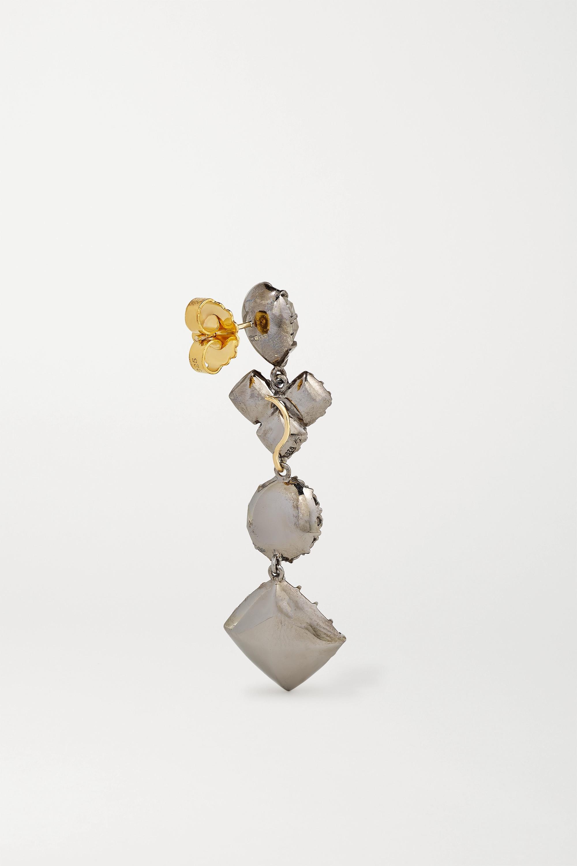 Larkspur & Hawk Sadie convertible rhodium-dipped quartz earrings