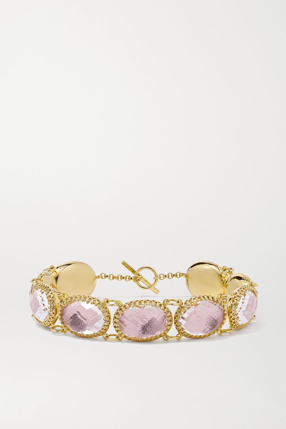 Larkspur & Hawk Lily 18-karat gold-dipped quartz bracelet
