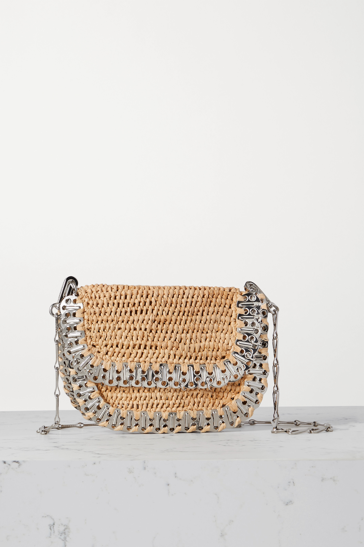 Paco Rabanne 1969 Messenger raffia and chainmail shoulder bag