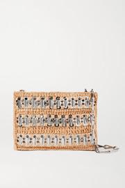 Paco Rabanne 1969 Nano raffia and chainmail shoulder bag