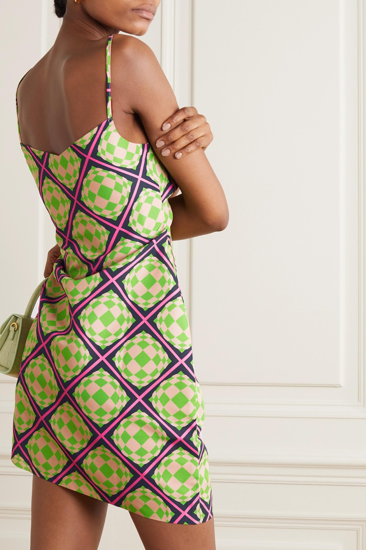 Maisie Wilen Party Girl asymmetrisches Minikleid aus bedrucktem Crêpe