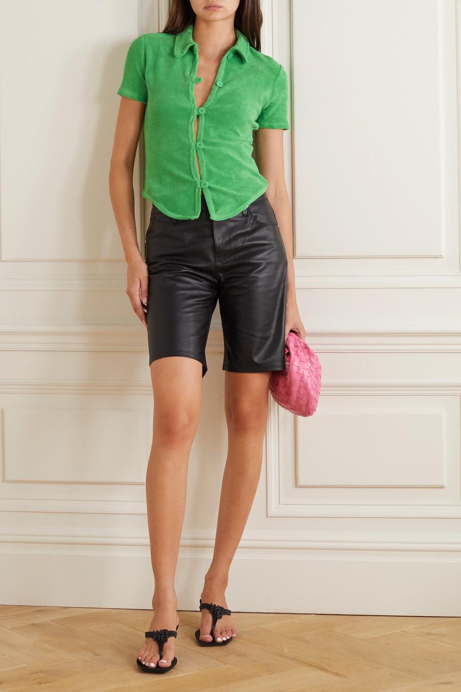 Maisie Wilen New Curriculum cotton-blend terry shirt