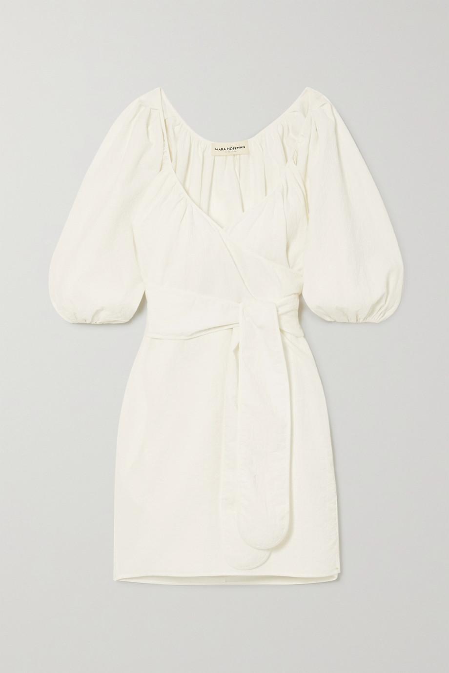 Mara Hoffman + NET SUSTAIN x LG Electronics Coletta crinkled organic cotton wrap mini dress