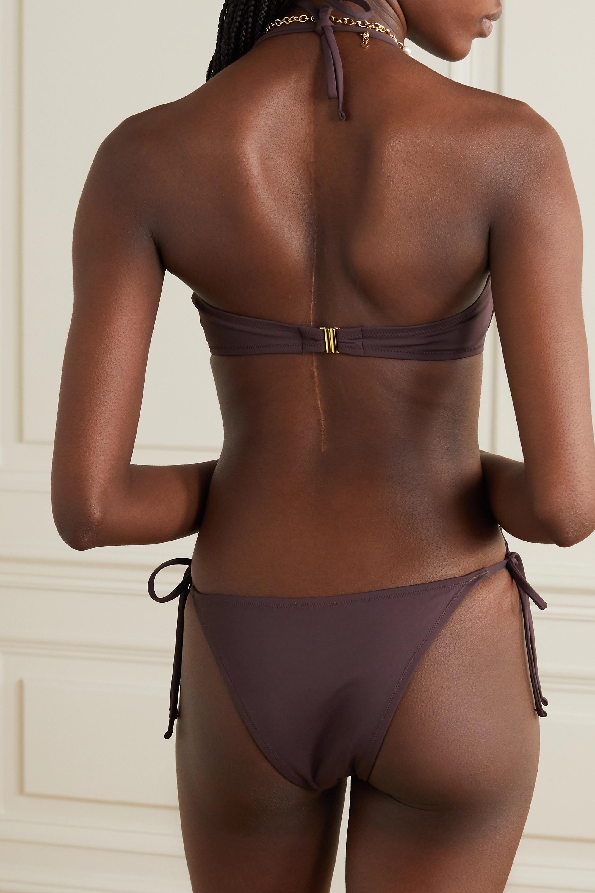 Fisch + NET SUSTAIN Coquillage Neckholder-Bikini-Oberteil mit Bügeln