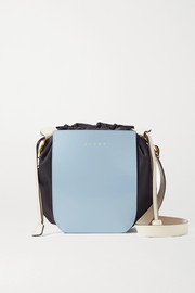Marni Gusset small patent-leather and shell shoulder bag