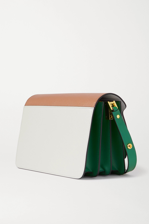Marni Trunk medium color-block textured-leather shoulder bag