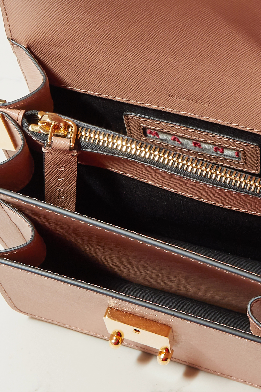 Marni Sac porté épaule en cuir texturé Trunk Mini