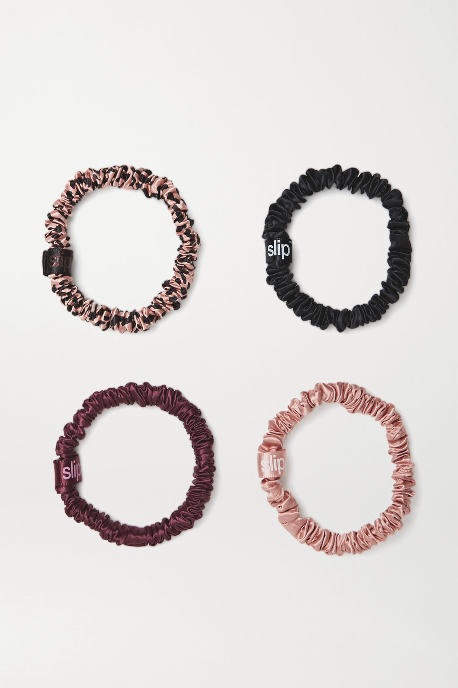Slip Set of four small silk hair ties