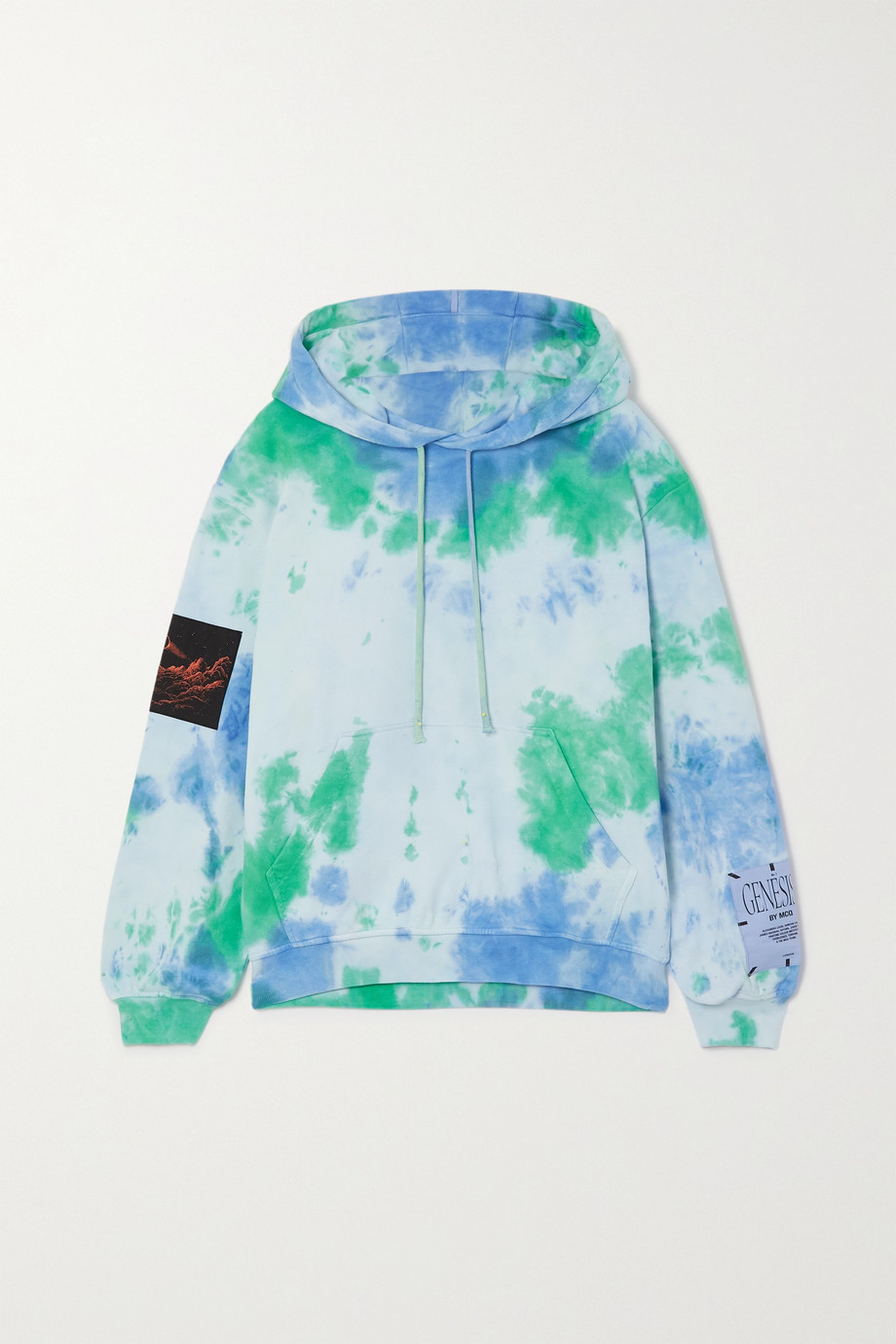MCQ Unity appliquéd tie-dyed cotton-jersey hoodie