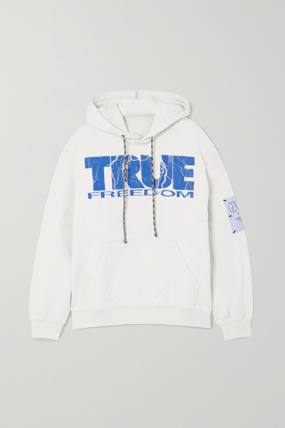 MCQ True appliquéd printed cotton-jersey hoodie
