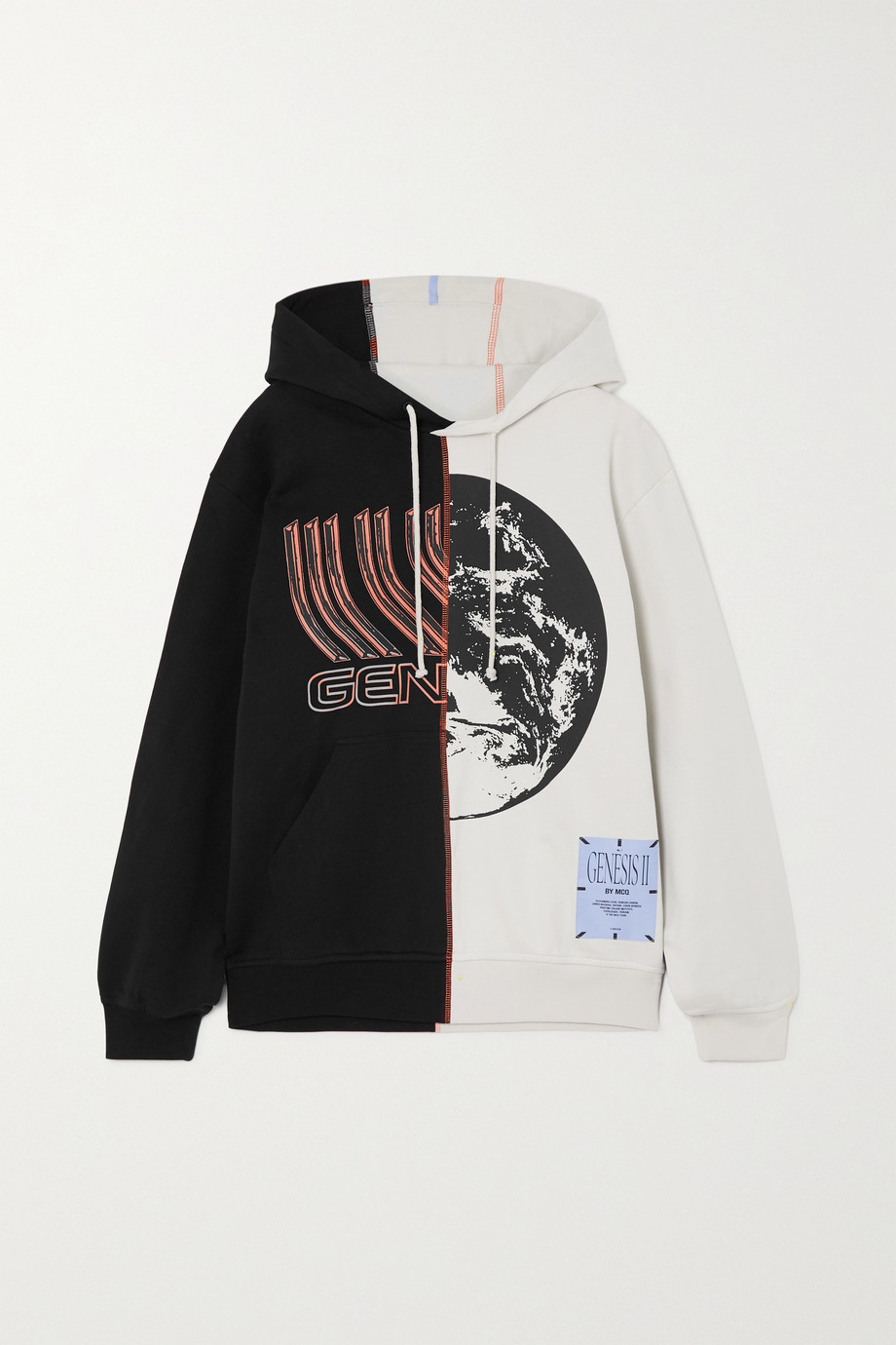 MCQ Genesys appliquéd printed cotton-jersey hoodie