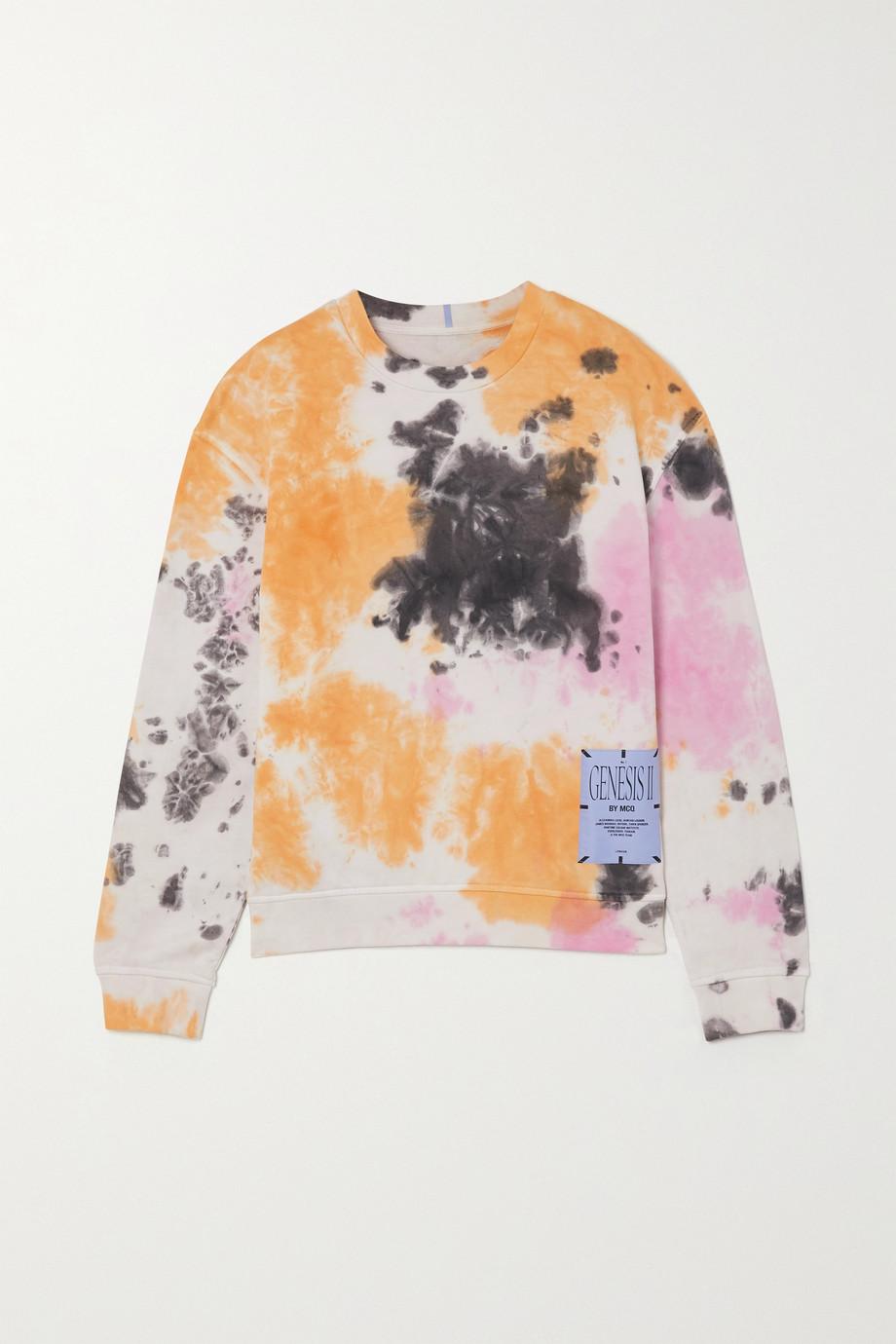 MCQ Athena appliquéd tie-dyed cotton-jersey sweatshirt