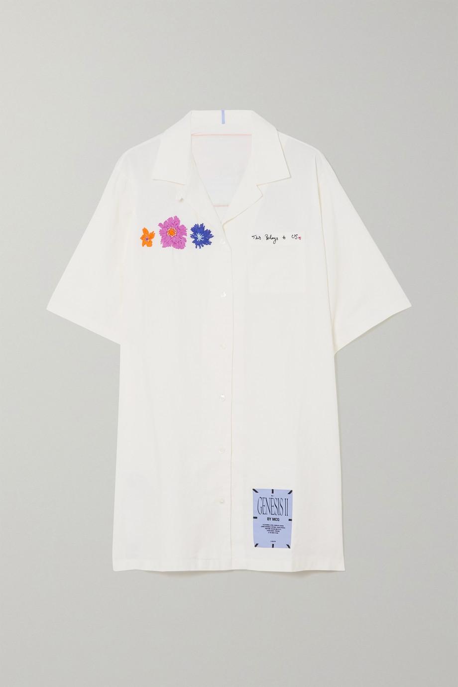 MCQ Embroidered cotton-poplin mini dress