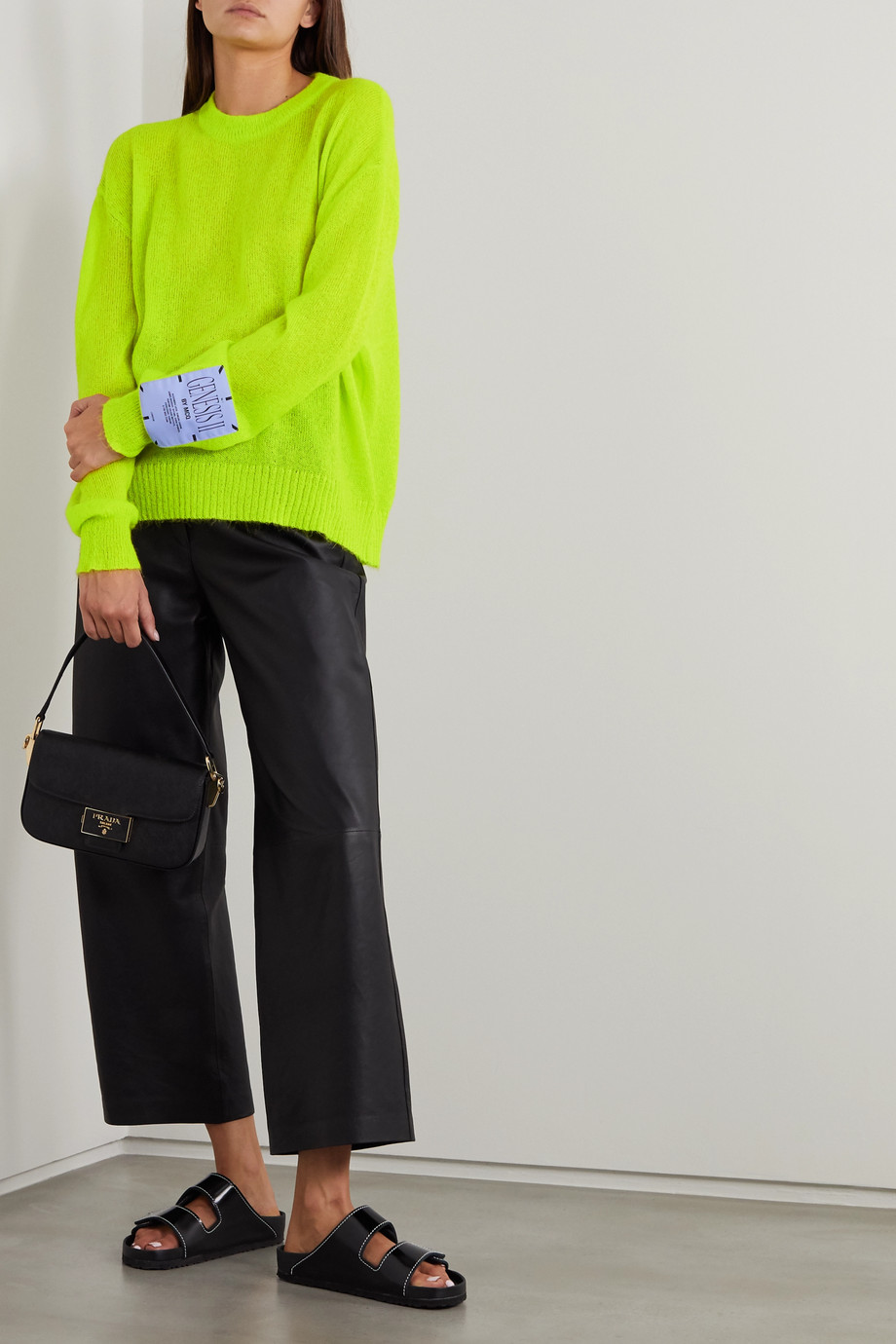 MCQ Appliquéd neon knitted sweater