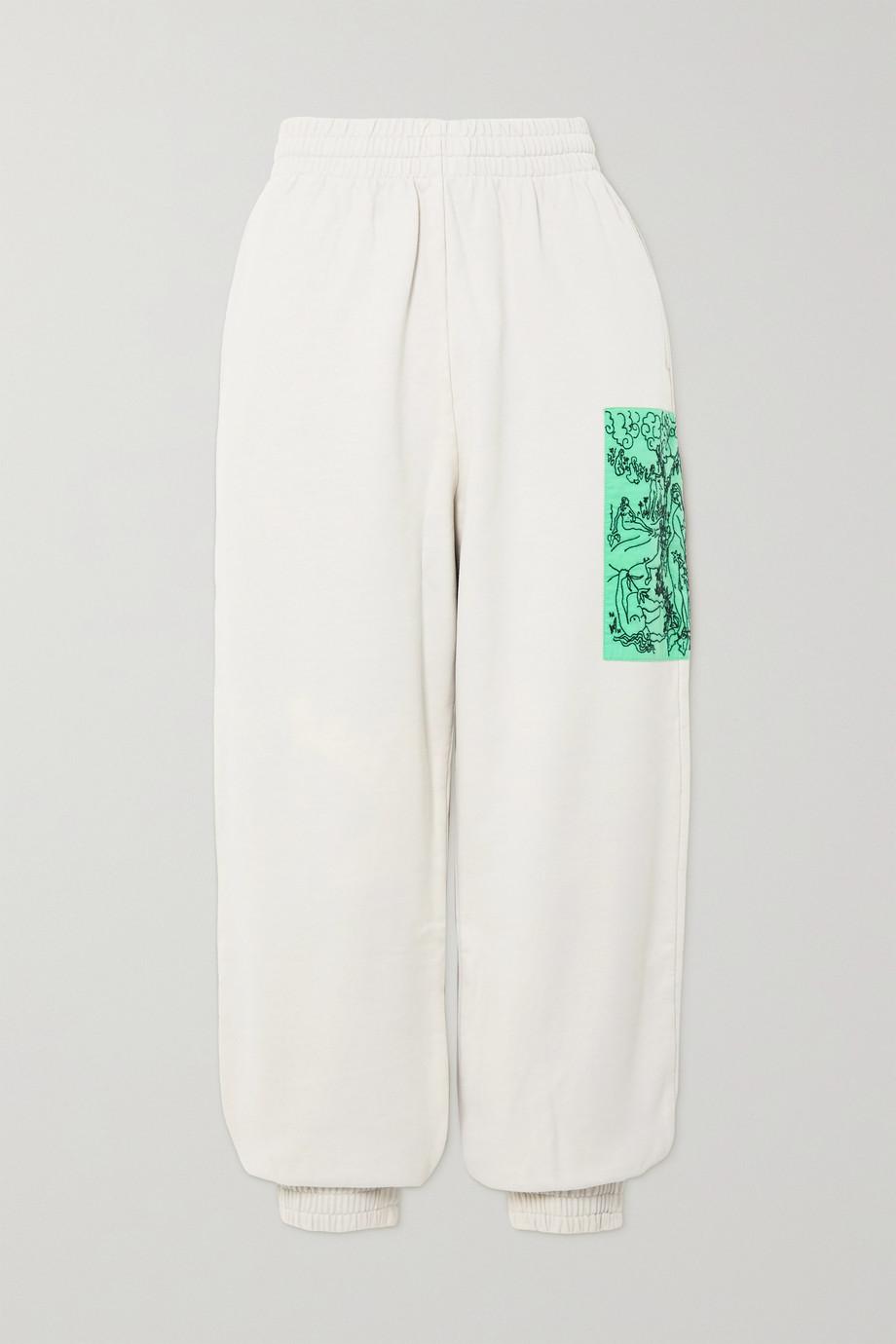 MCQ True appliquéd cotton-jersey track pants