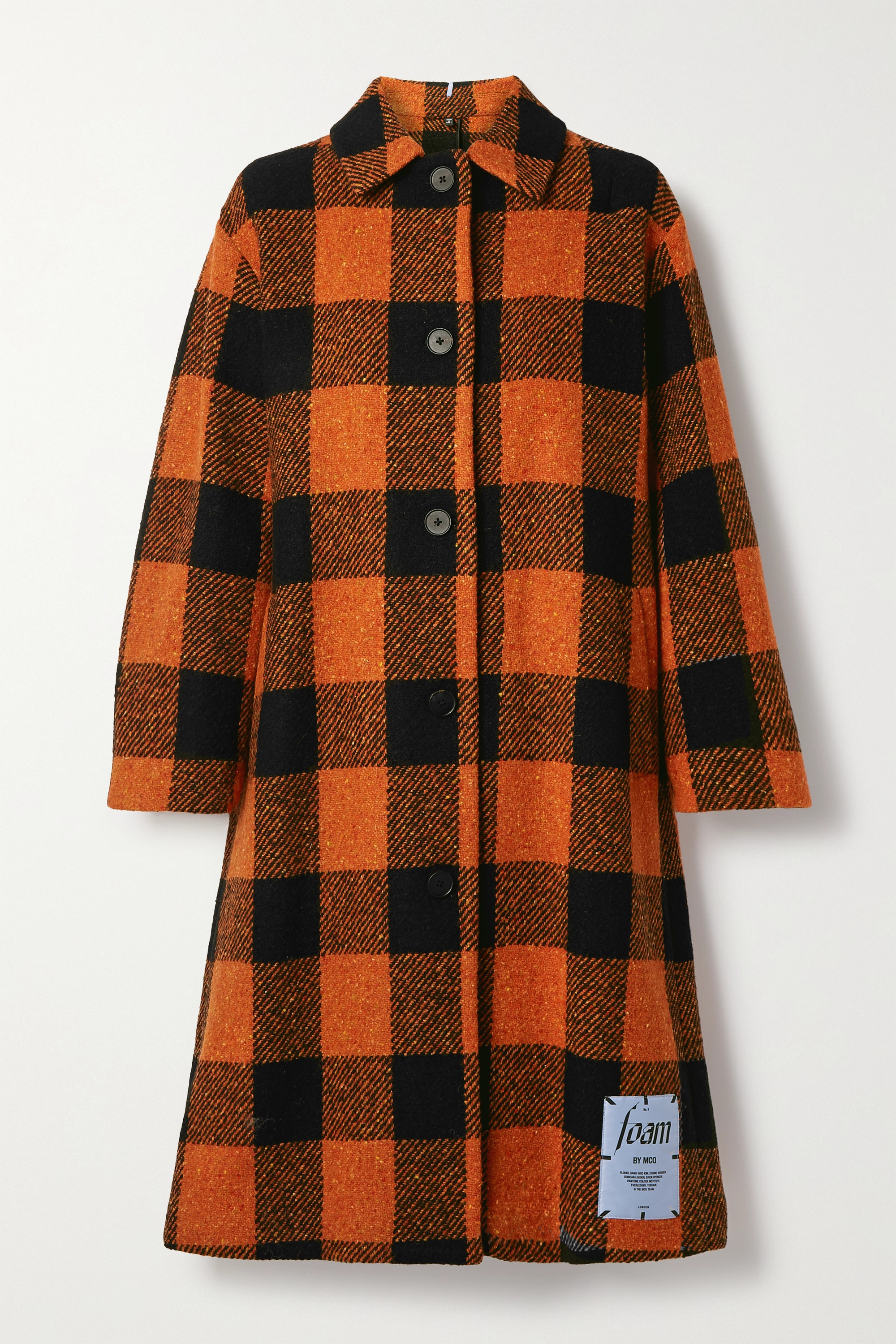 MCQ Checked wool-blend coat