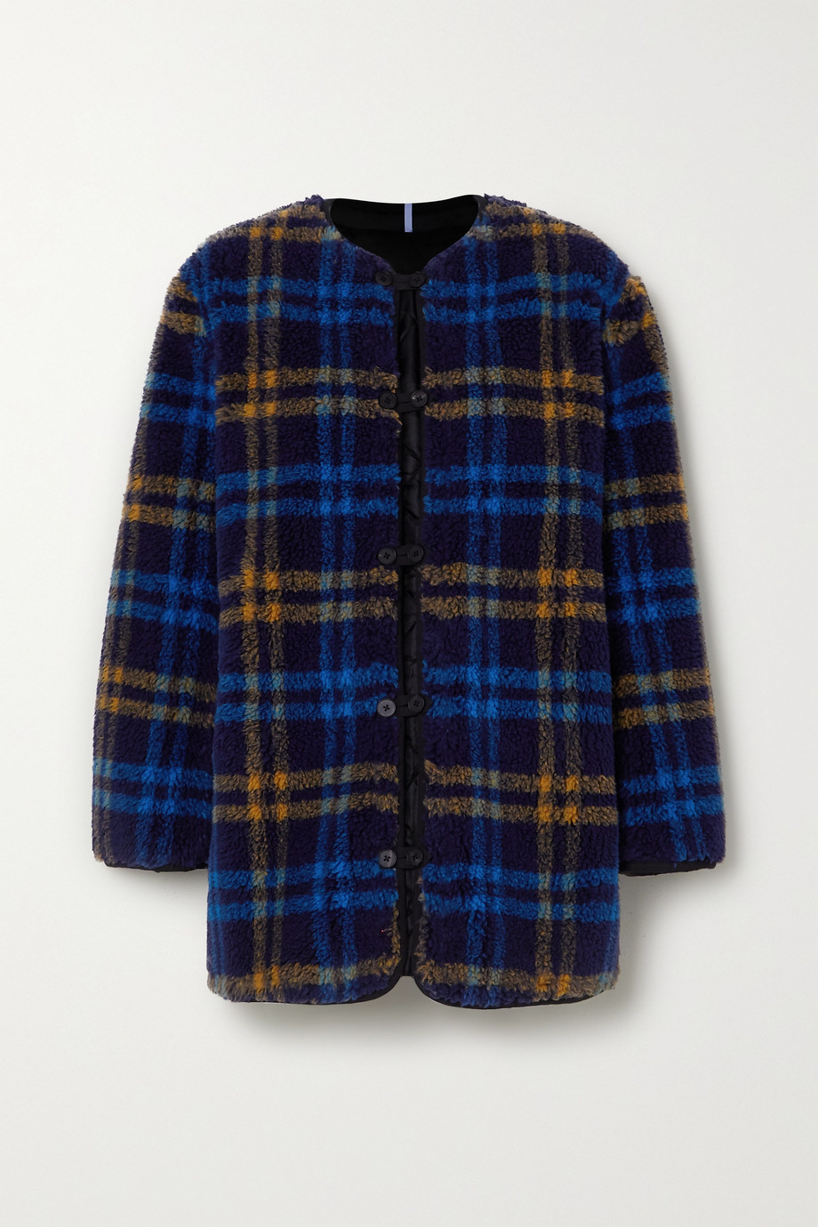 MCQ Reversible apppliquéd checked fleece and quilted shell jacket