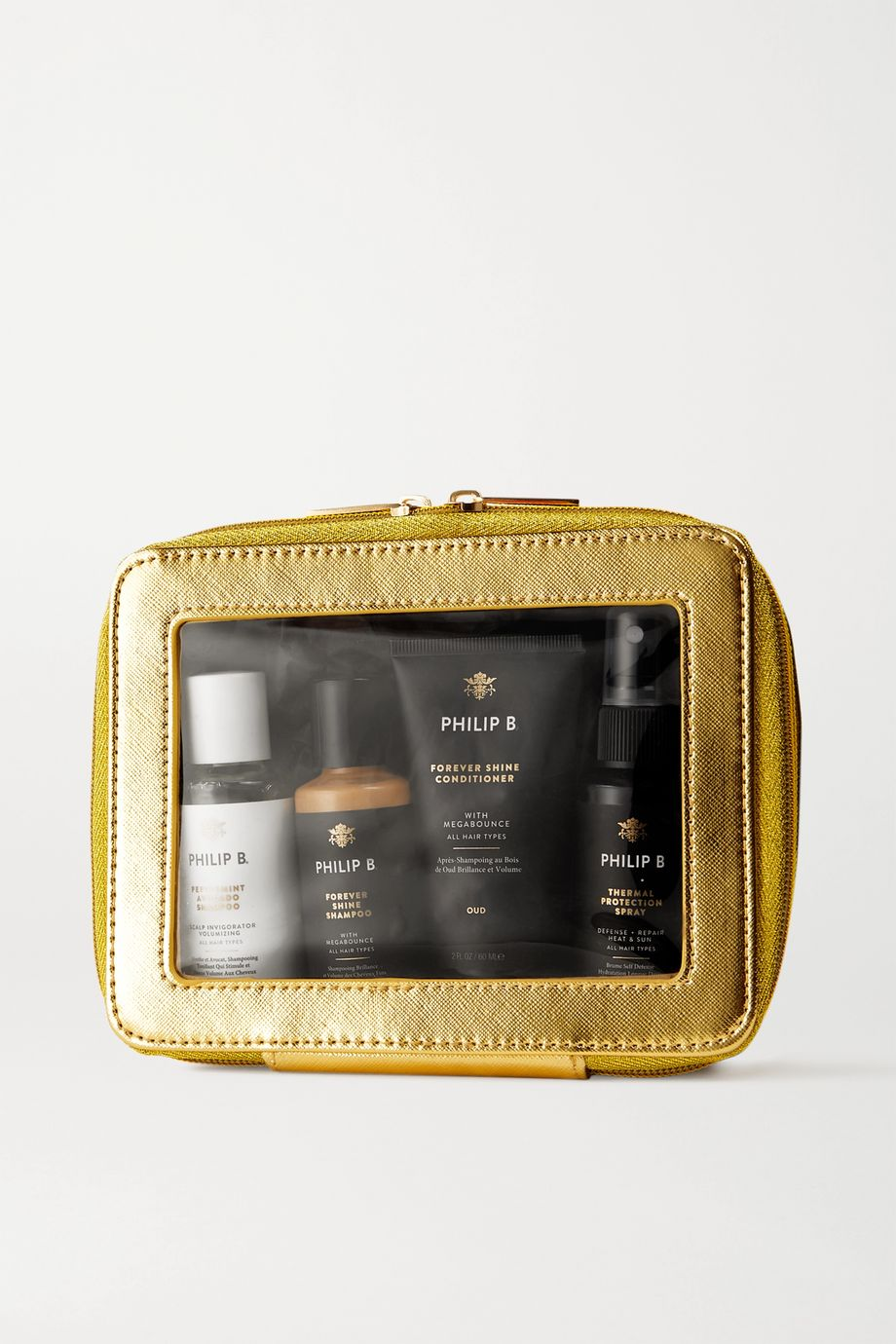 Philip B Luxury Gold Forever Shine Weekender Set – Haarpflegeset