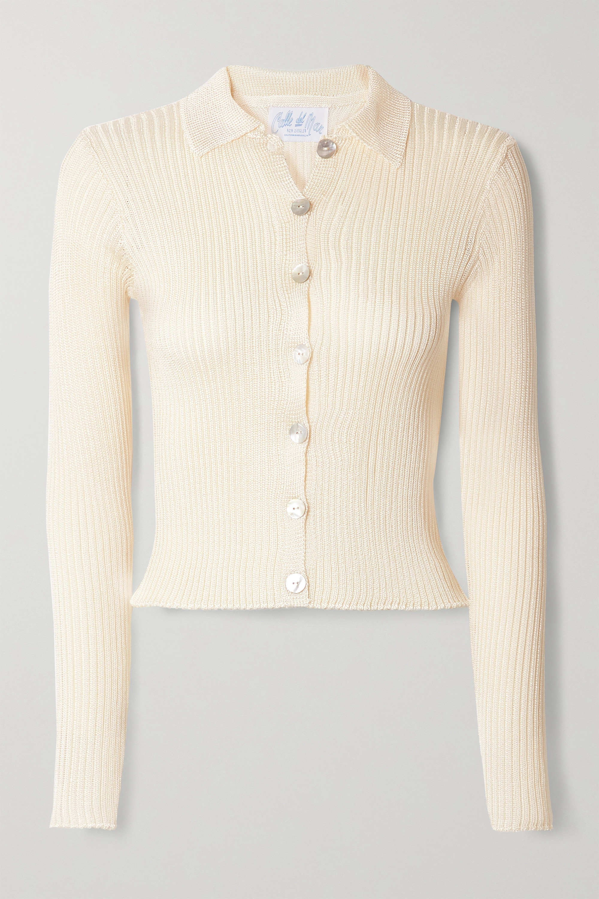 Calle Del Mar Ribbed-knit cardigan
