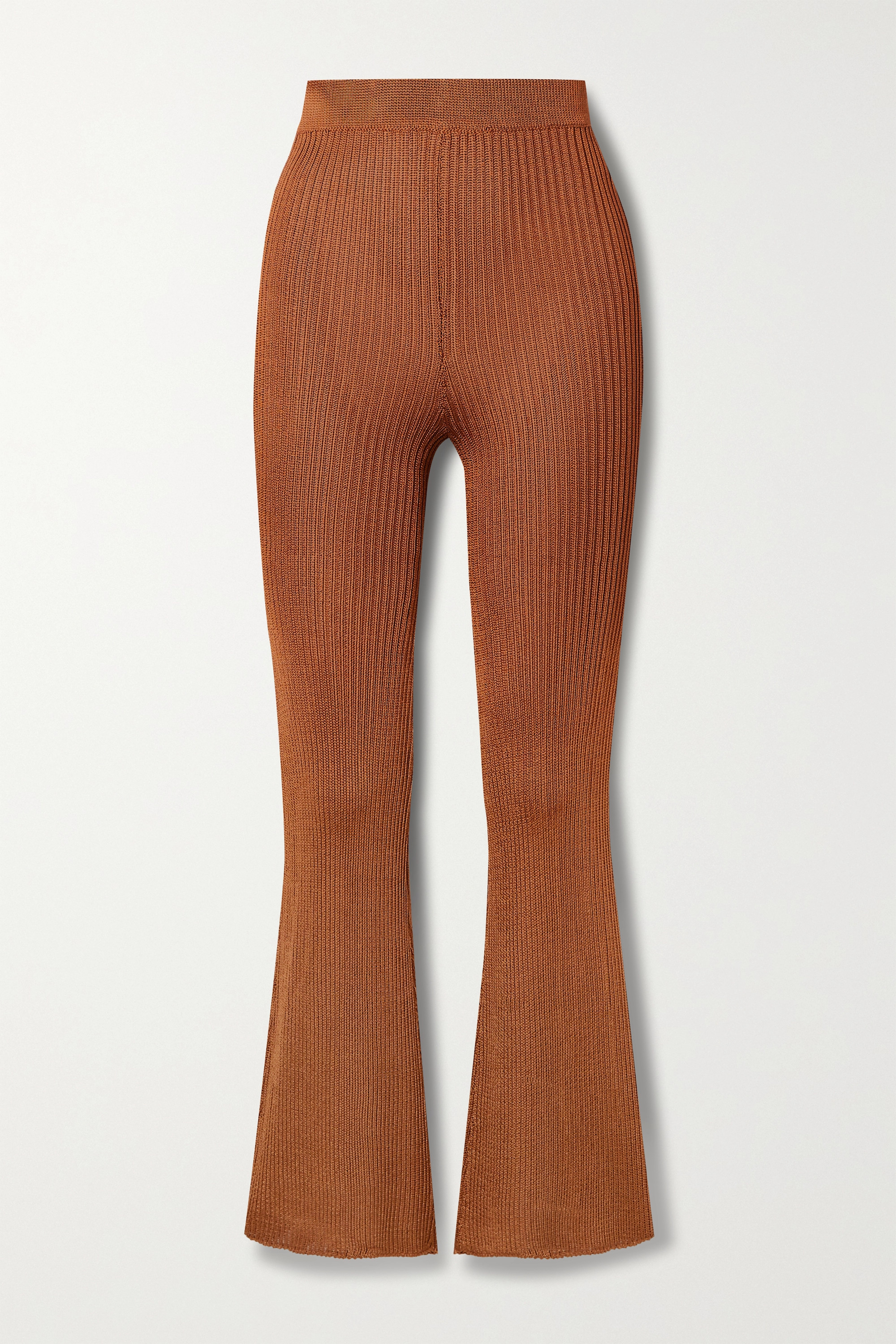 Calle Del Mar + NET SUSTAIN ribbed-knit flared pants