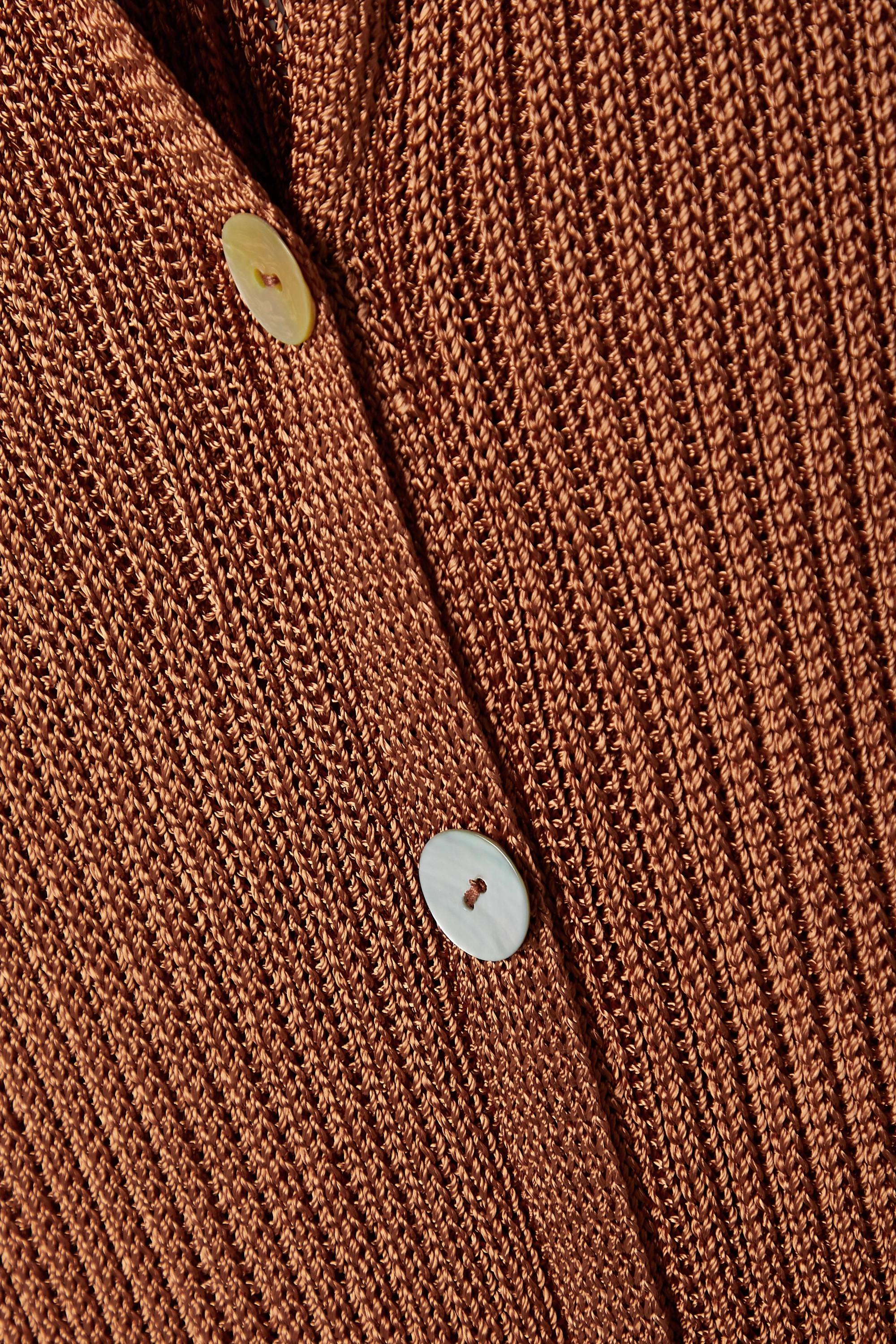 Calle Del Mar + NET SUSTAIN ribbed-knit midi dress