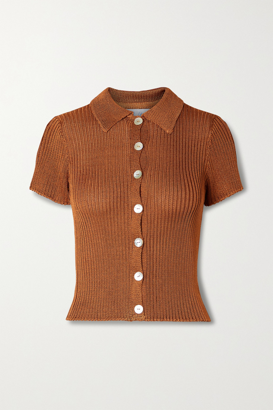 Calle Del Mar + NET SUSTAIN ribbed-knit shirt