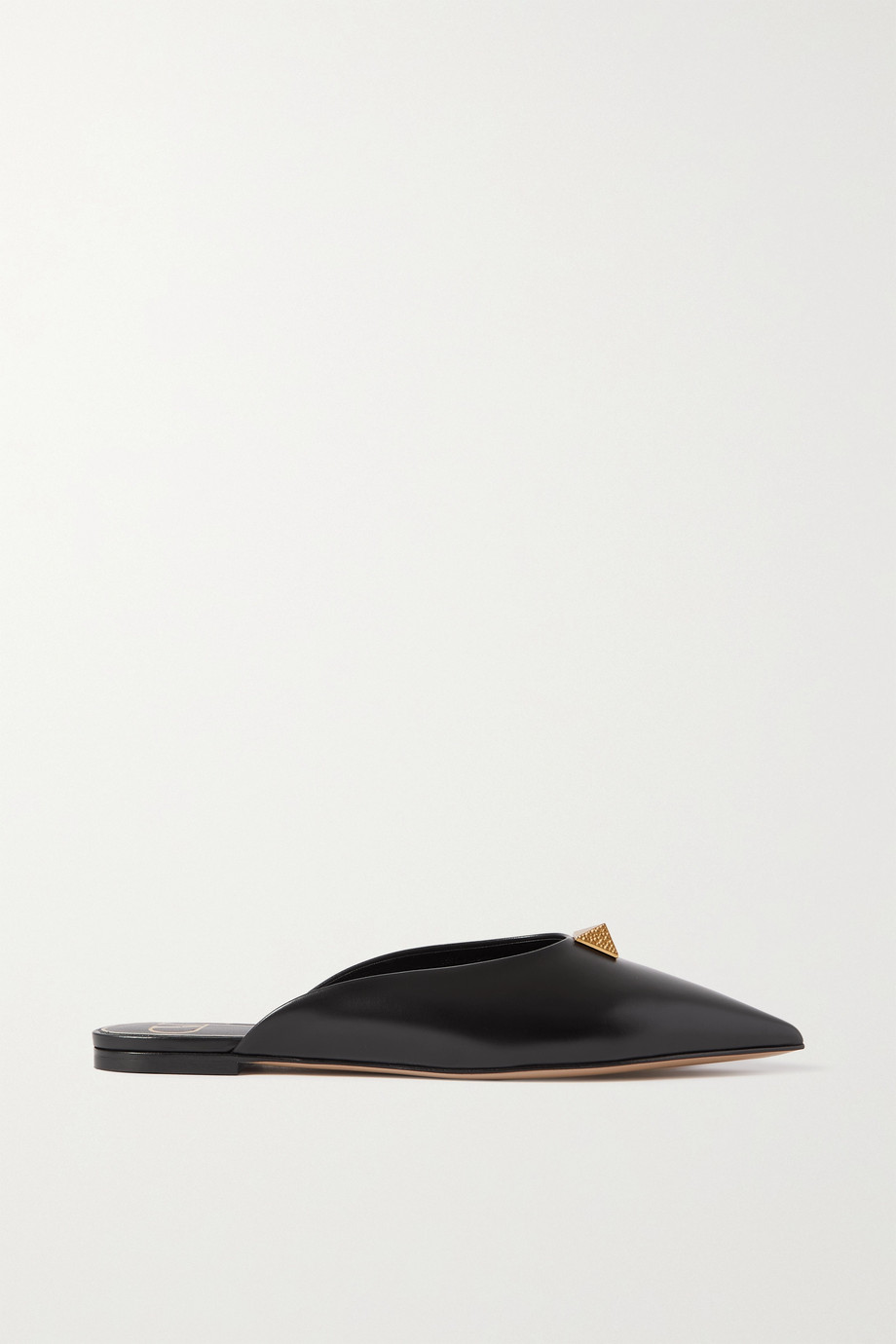 Valentino Valentino Garavani Upstud leather point-toe flats