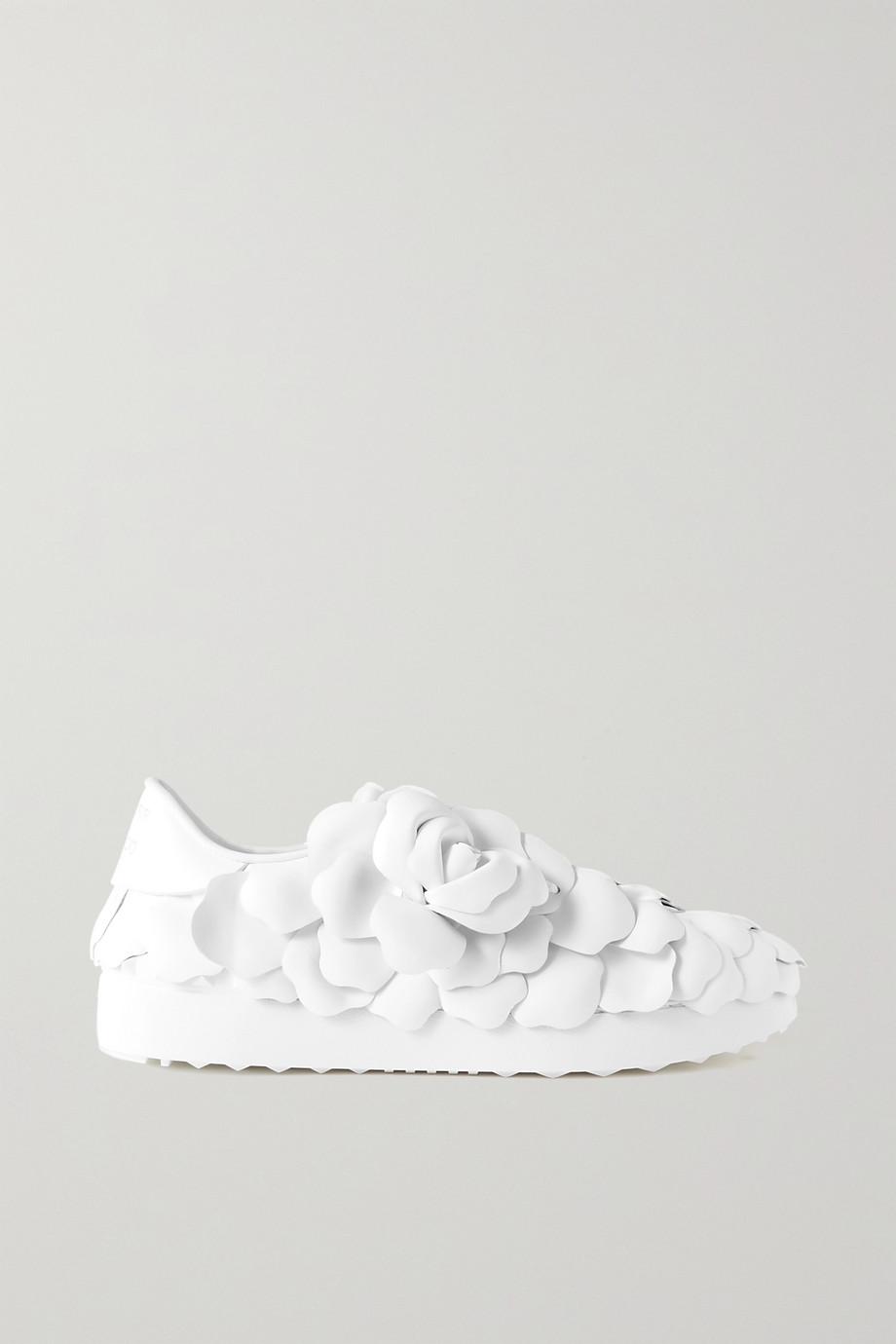 Valentino Rosa appliquéd leather sneakers