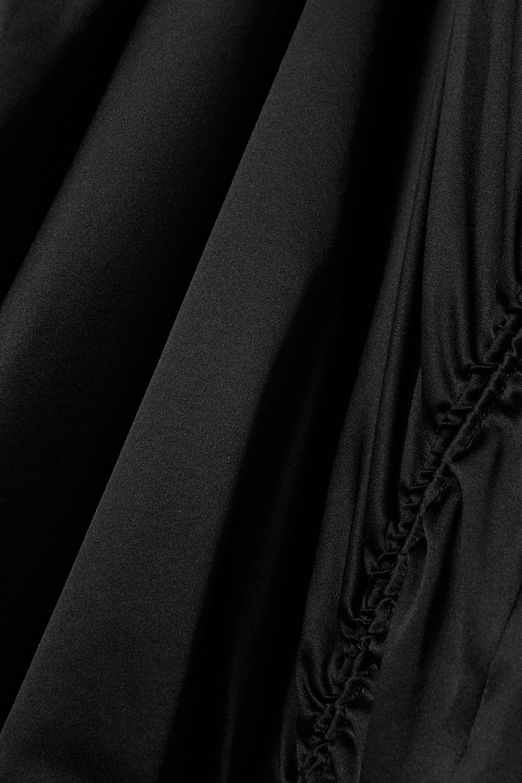 Helmut Lang Ruched silk-blend satin midi dress