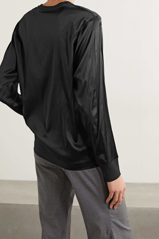 Helmut Lang Printed stretch-silk satin sweatshirt