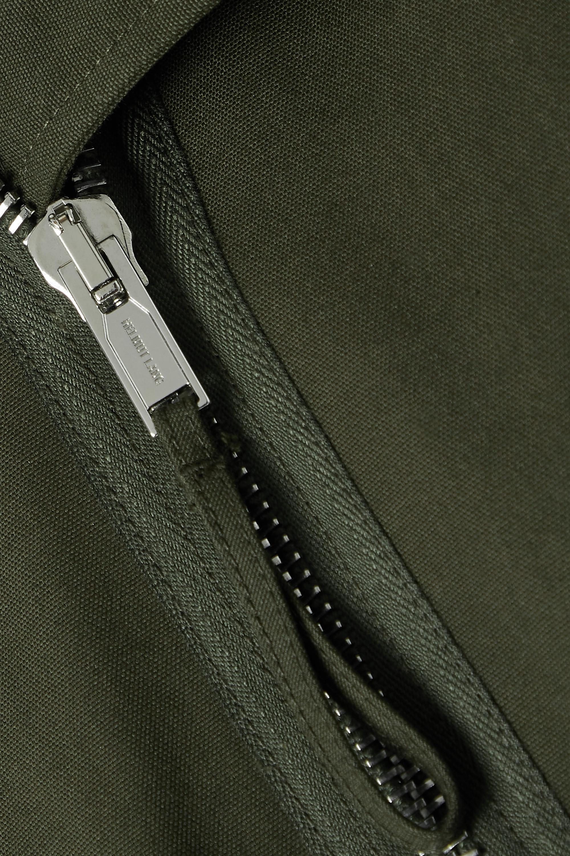 Helmut Lang Cropped ribbed knit-trimmed canvas jacket