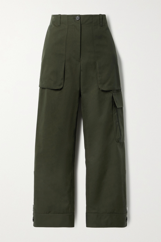 Helmut Lang Cropped canvas straight-leg pants