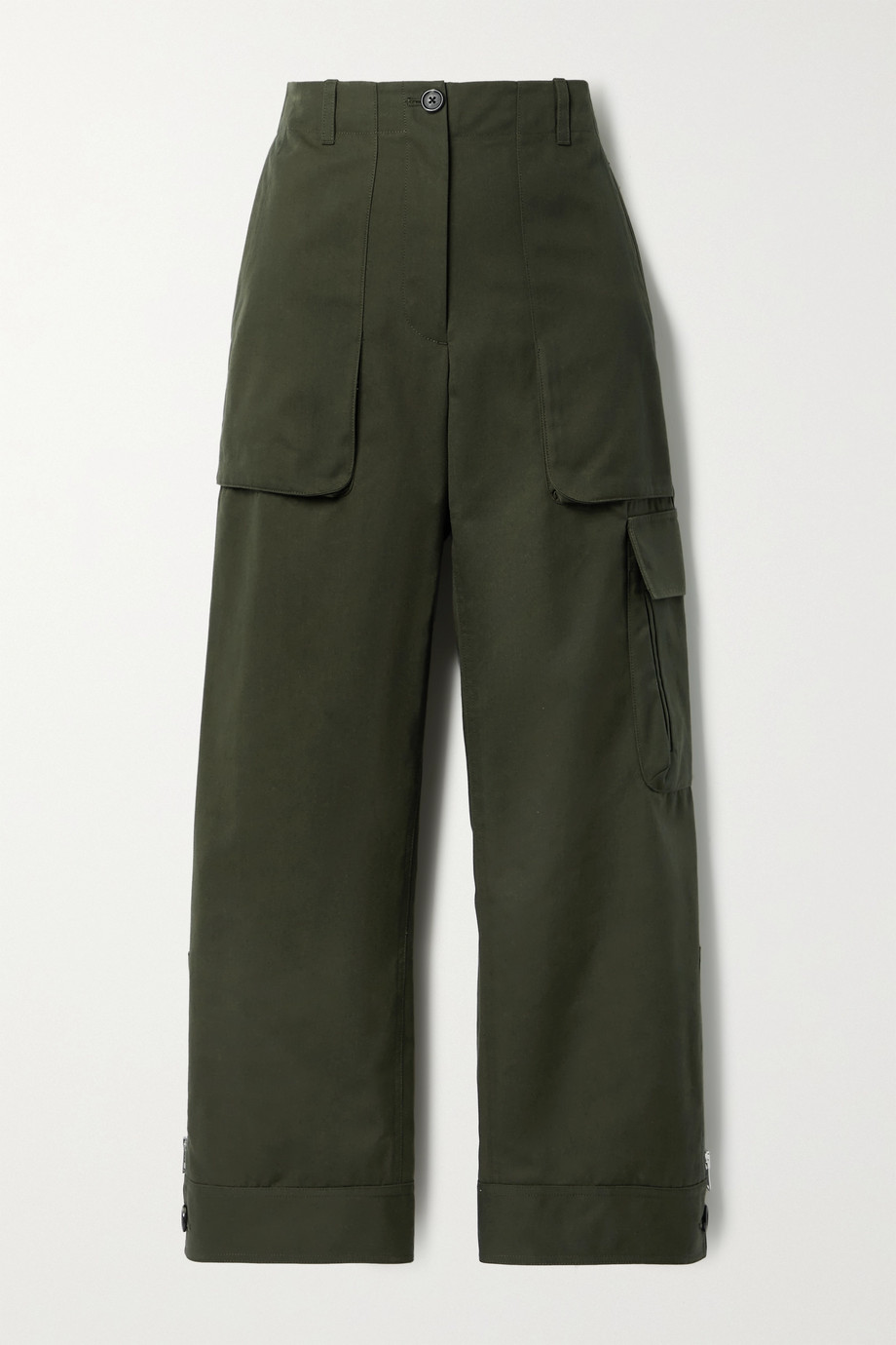 Helmut Lang Cropped canvas straight-leg pants