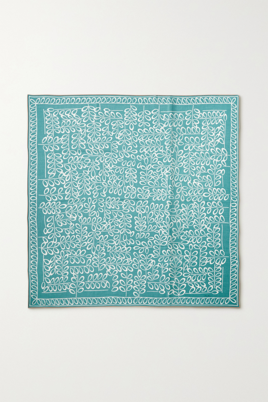Loro Piana Printed cashmere and silk-blend twill scarf