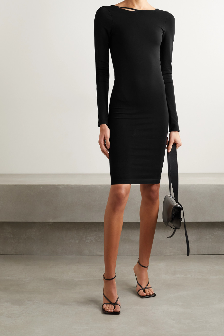 Helmut Lang Cutout stretch-jersey dress