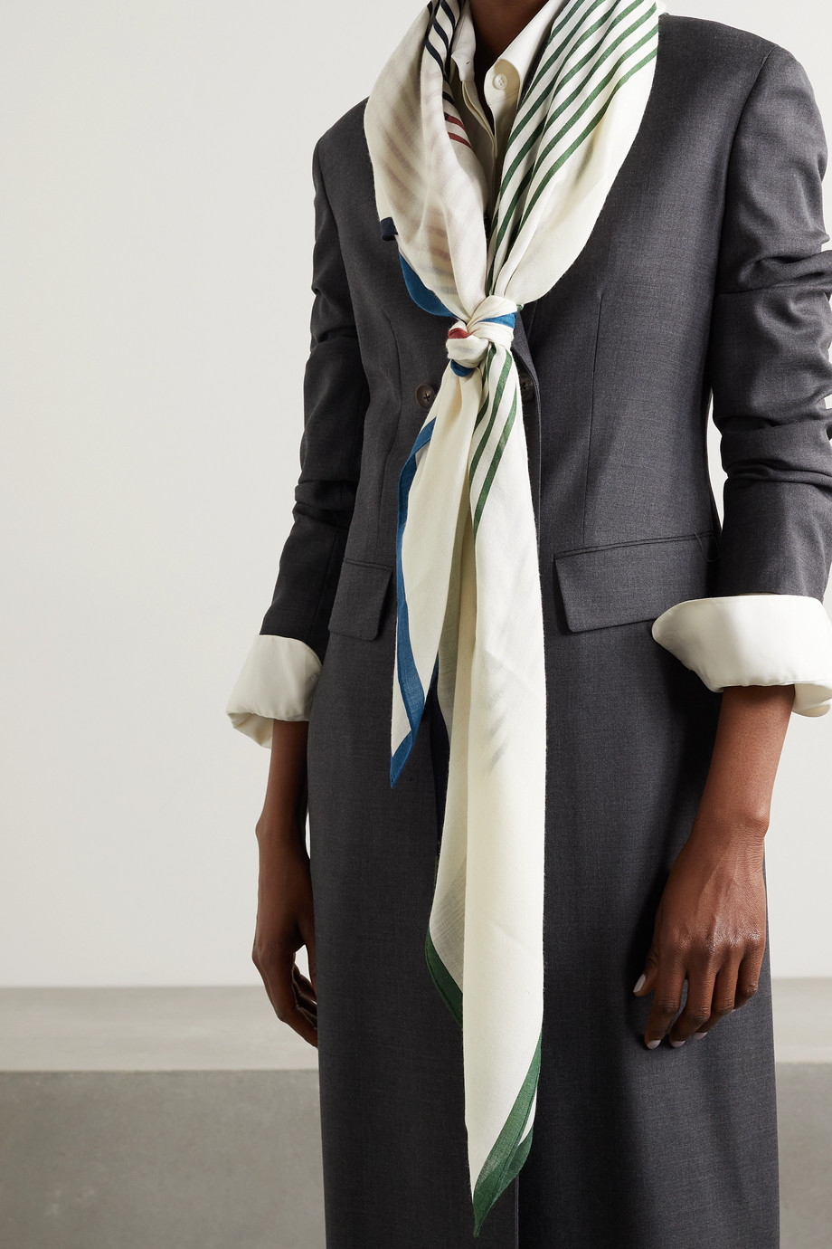 Loro Piana Printed cashmere and silk-blend scarf