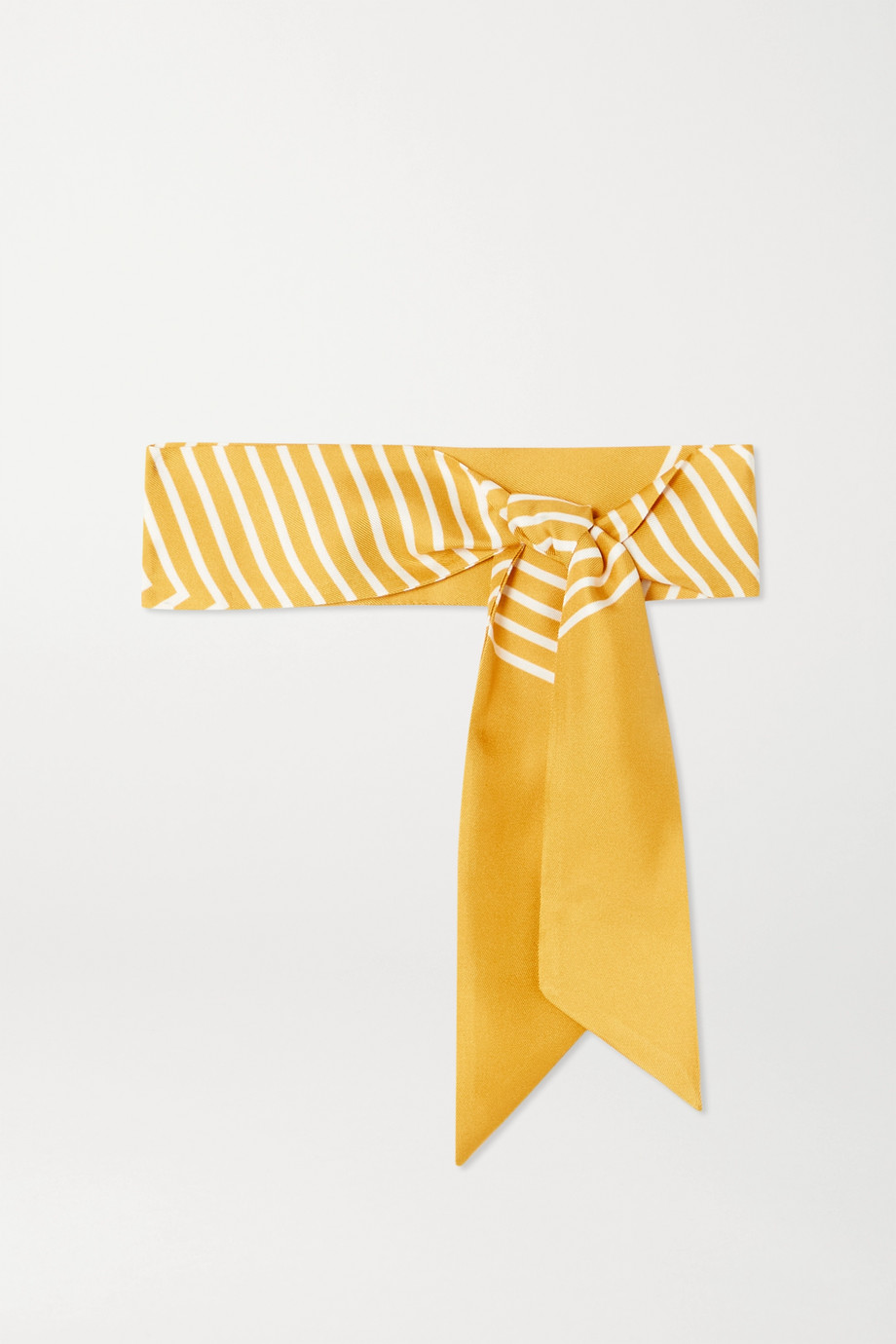 Loro Piana Striped silk-twill scarf