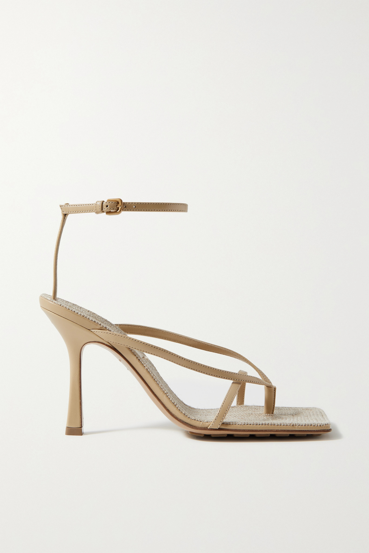 Bottega Veneta Leather and raffia sandals