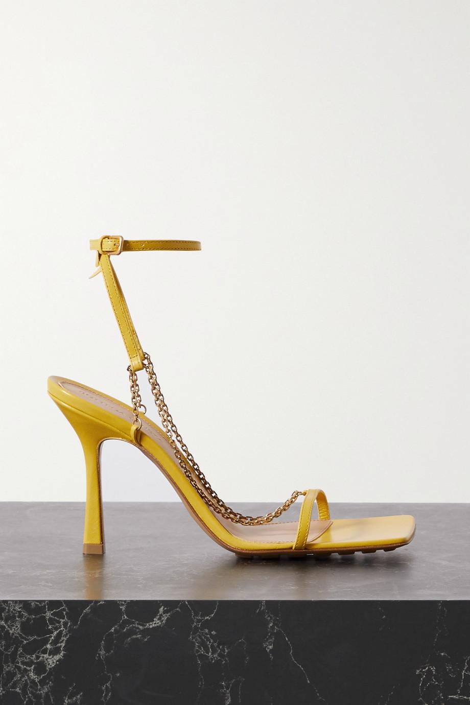 Bottega Veneta Sandalen aus Leder mit Kette