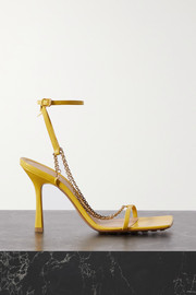 Bottega Veneta Chain-embellished leather sandals