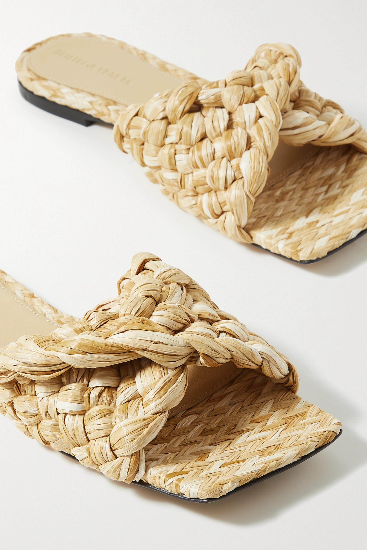 Bottega Veneta Intrecciato raffia slides