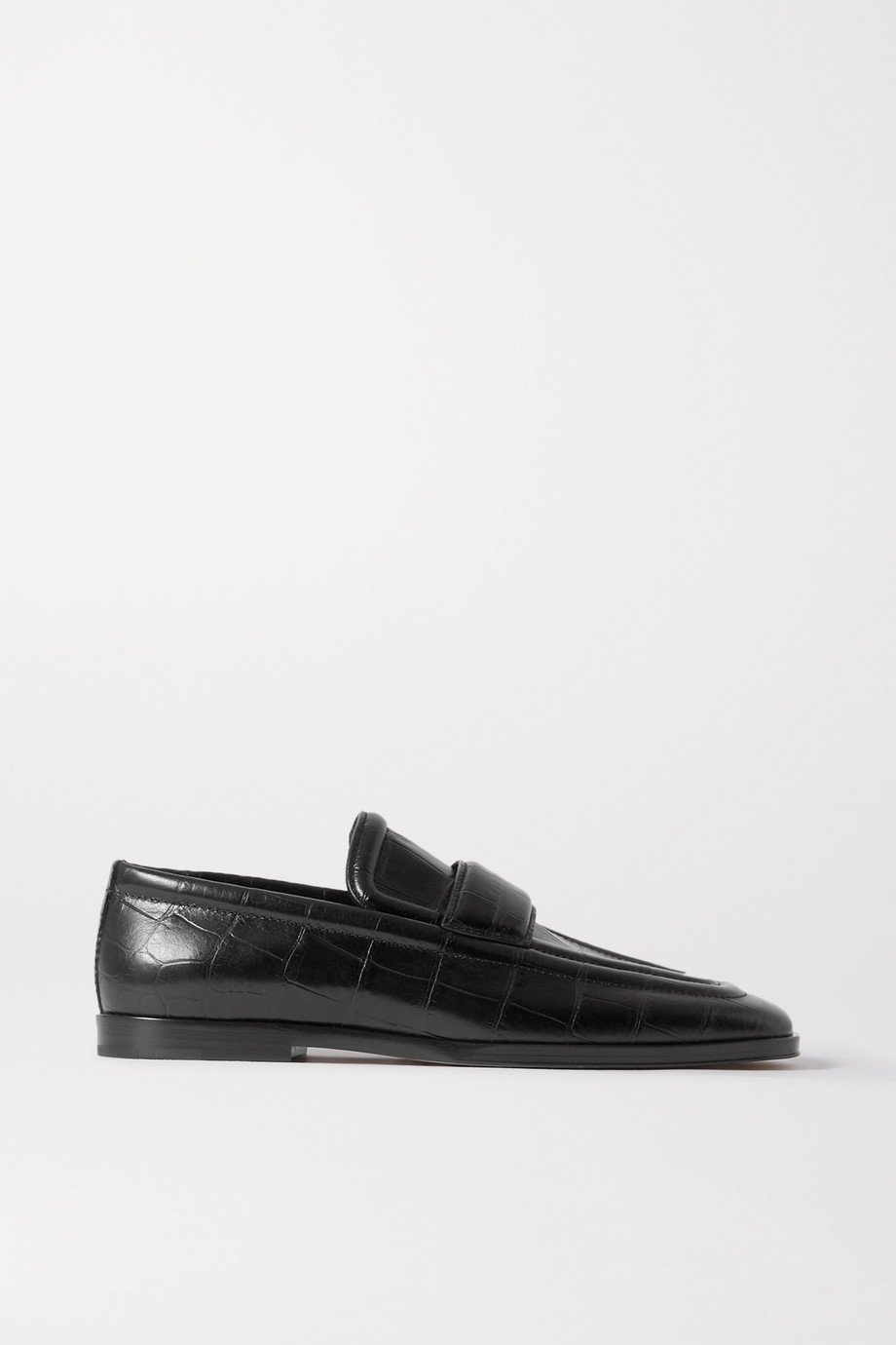 Bottega Veneta Croc-effect leather loafers