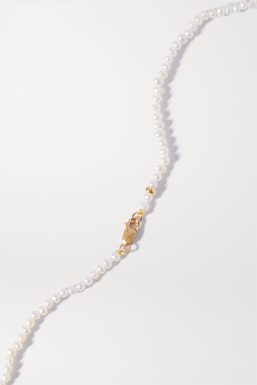 JIA JIA Kette mit Details aus Gold, Quarz und Perlen