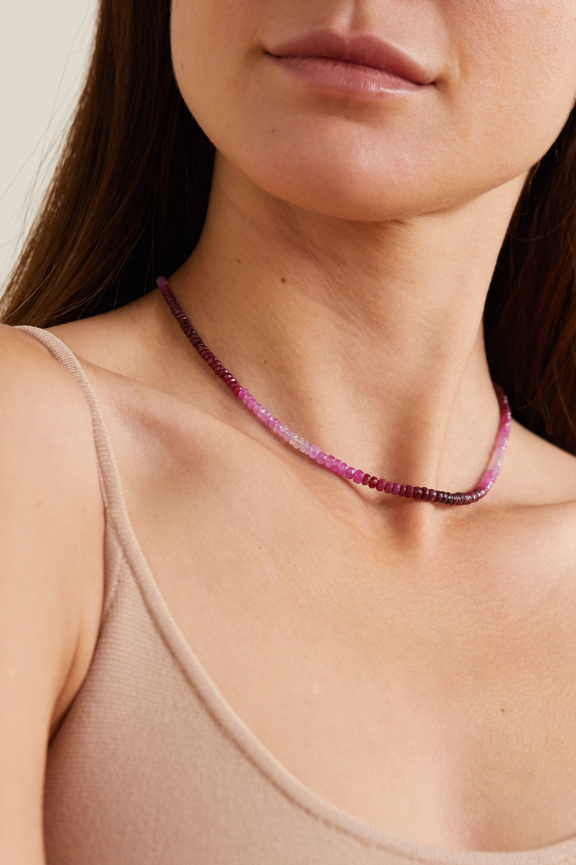 JIA JIA Arizona gold ruby necklace