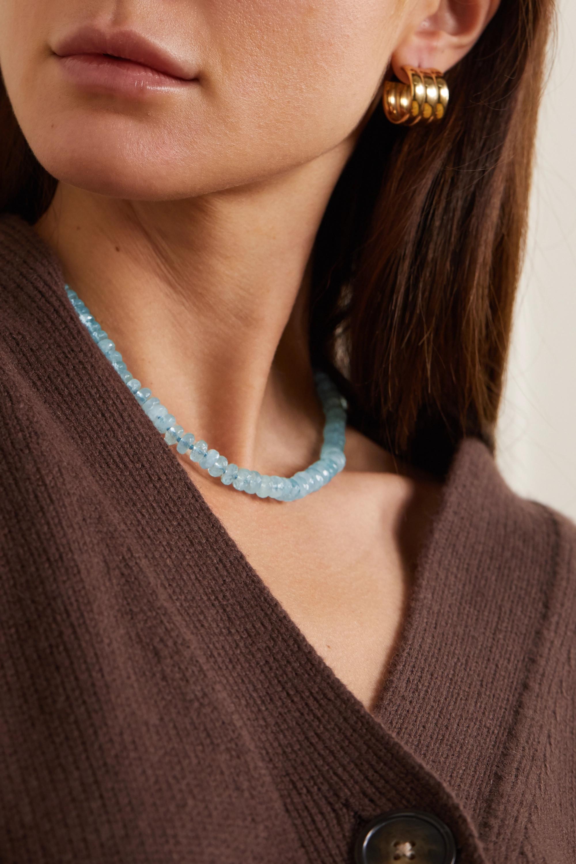 JIA JIA Oracle gold aquamarine necklace