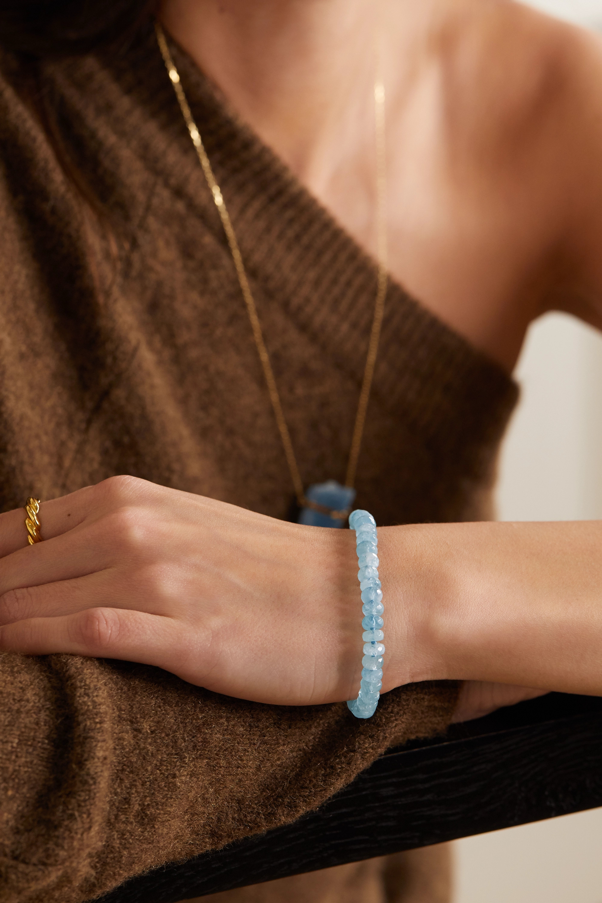 JIA JIA Oracle gold aquamarine bracelet