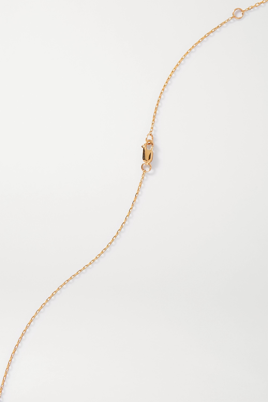 JIA JIA 14-karat gold, quartz and diamond necklace