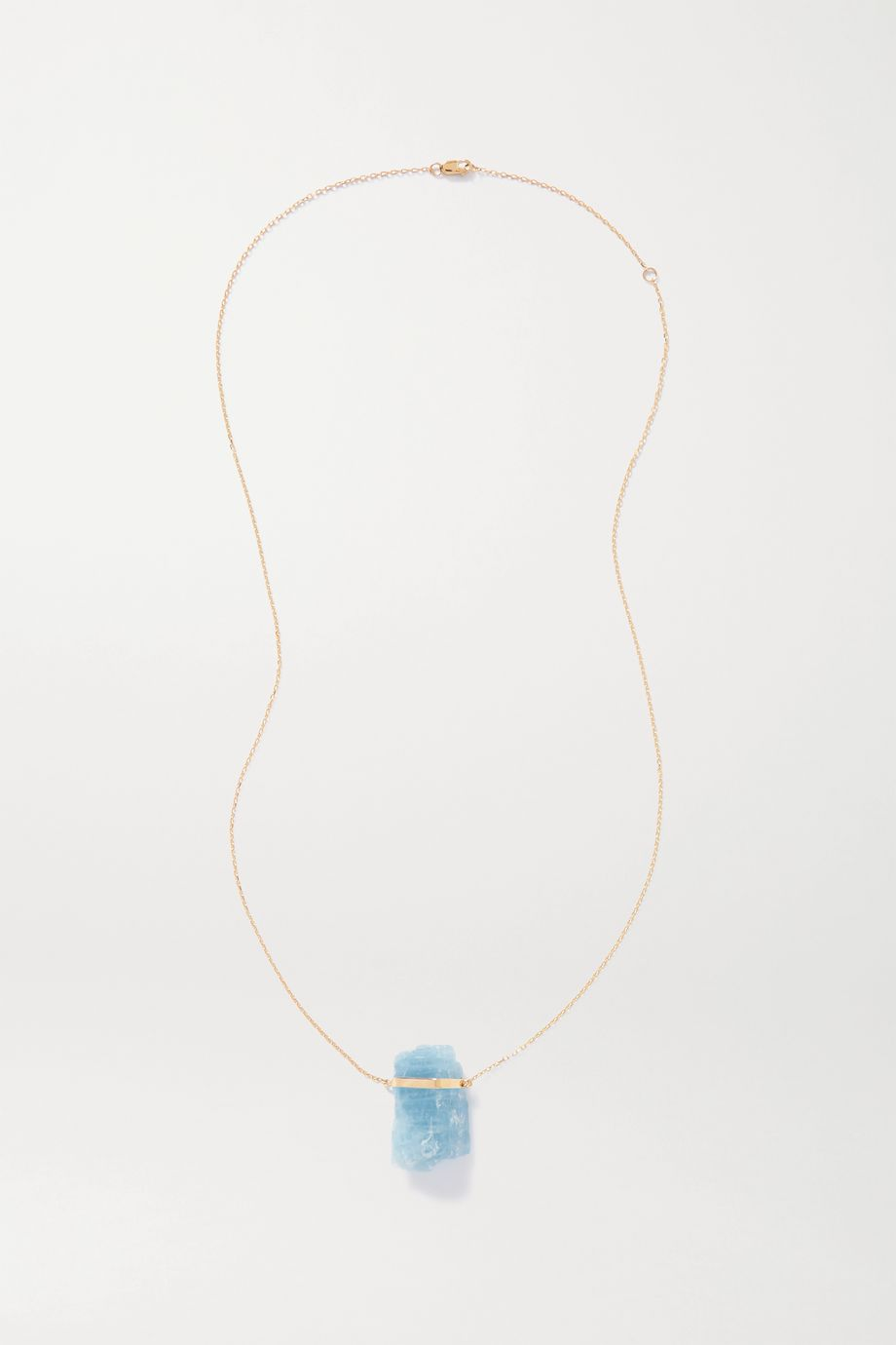 JIA JIA 14-karat gold aquamarine necklace