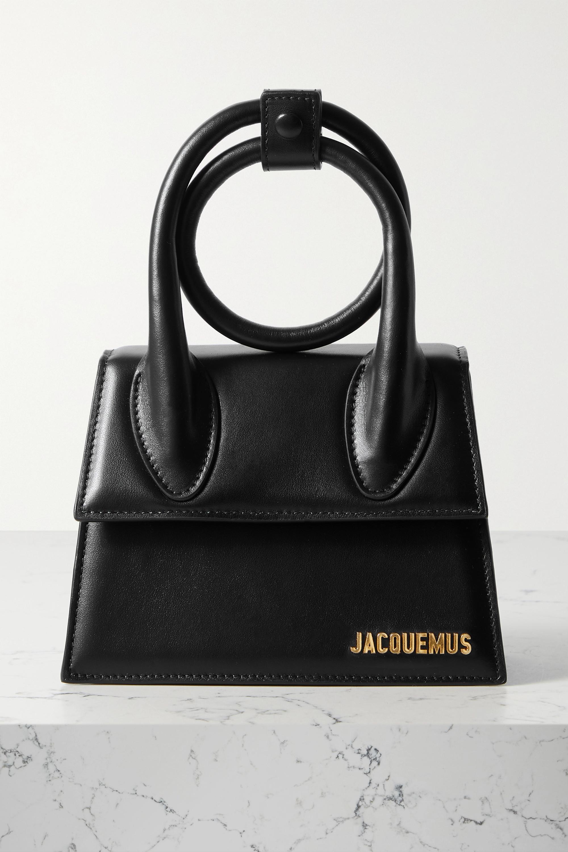 Jacquemus Le Chiquito Noeud kleine Schultertasche aus Leder